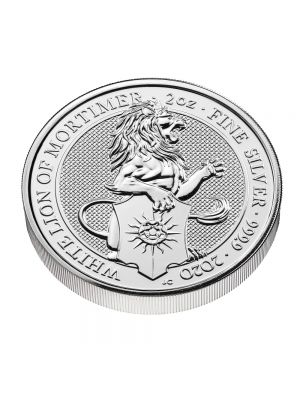 Queens Beast white lion 2020 10 troy ounce zilveren munt