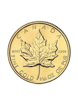 Maple Leaf 1/10 troy ounce gouden munt