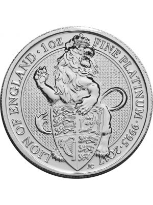 Queens Beast White Lion 1 troy ounce platina munt
