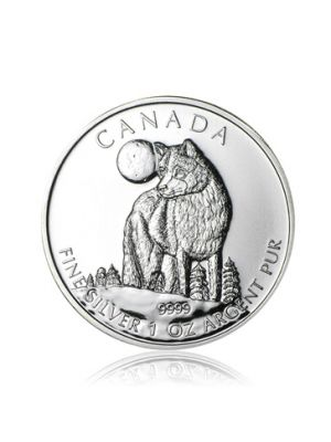1 troy ounce Maple Leaf Wildlife Wolf