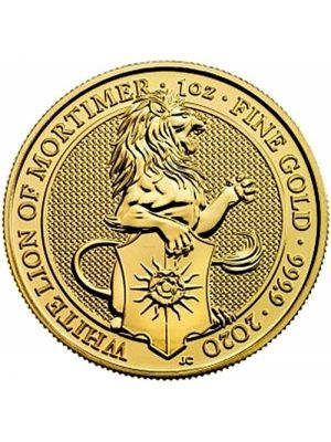 Queens Beast White Lion 2020 1 troy ounce gouden munt