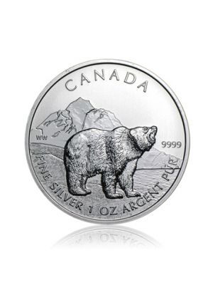 1 troy ounce Maple Leaf Wildlife Grizzly Bear