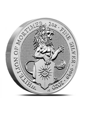 Queens Beast White Lion 2020 2 troy ounce zilveren munt