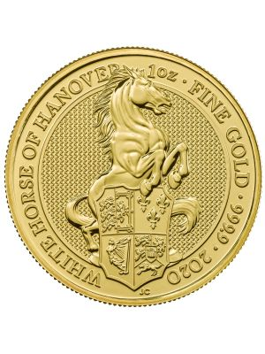 Queens Beast White Horse 2020 1 troy ounce gouden munt